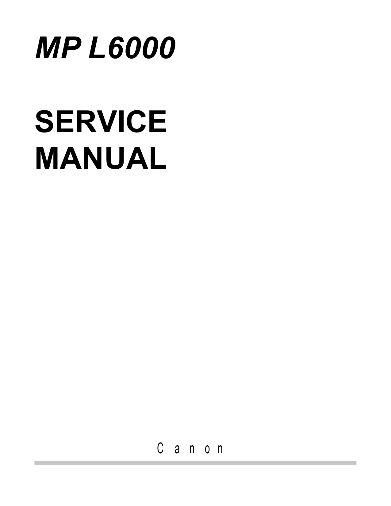 Canon MultiPASS MP-L6000 Service Manual-1
